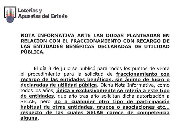 CONSTITUCIÓN DE LA COMISIÓN MIXTA SELAE-FENAMIX