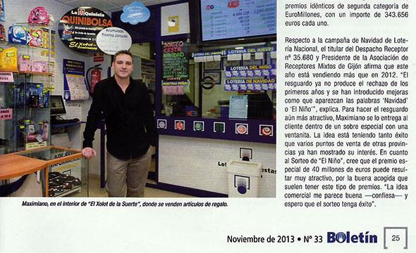El boletín de SELAE entrevista a Maxi, Presidente de la Asociación de GIJÓN