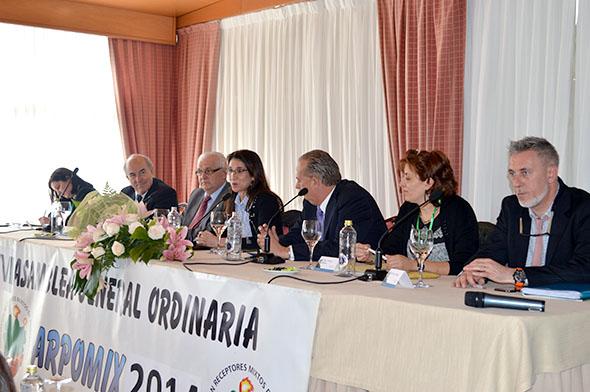 La Presidenta de Loterías infunde ilusión en la Asamblea de Receptores Mixtos de Pontevedra.