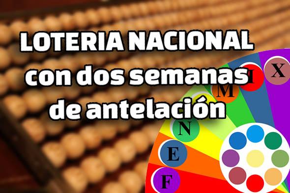 VENTA DE LA LOTERÍA NACIONAL DEL SÁBADO CON DOS SEMANAS DE ANTELACIÓN
