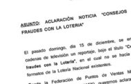 Aclaración Nota Prensa Fraude Loterías