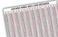 Listado Lotería del Niño 2021