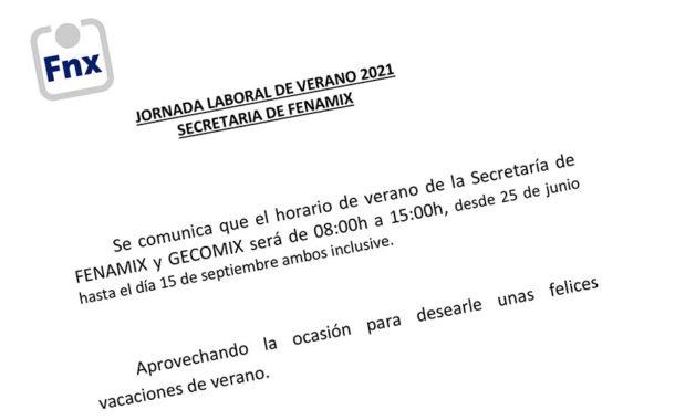 JORNADA LABORAL DE VERANO 2021