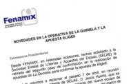 NOVEDADES EN LA OPERATIVA DE LA QUINIELA Y LA APUESTA ELIGE8