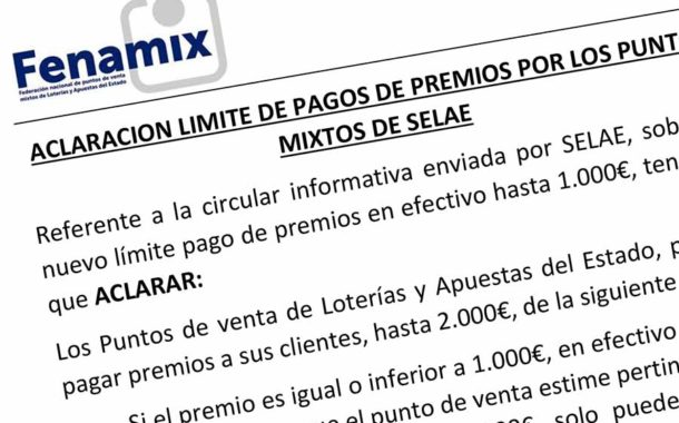 LÍMITE DE PAGOS DE PREMIOS Y VALIDACIONES DE APUESTAS