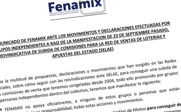 COMUNICADO DE FENAMIX