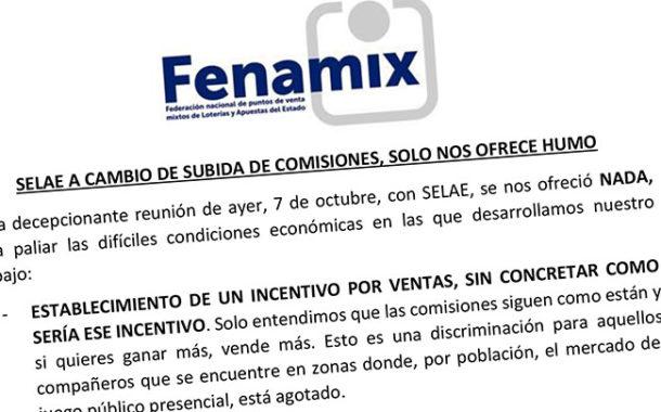 SELAE A CAMBIO DE SUBIDA DE COMISIONES, SOLO NOS OFRECE HUMO